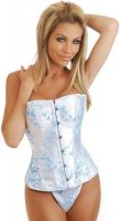 Light Blue Brocade Corset